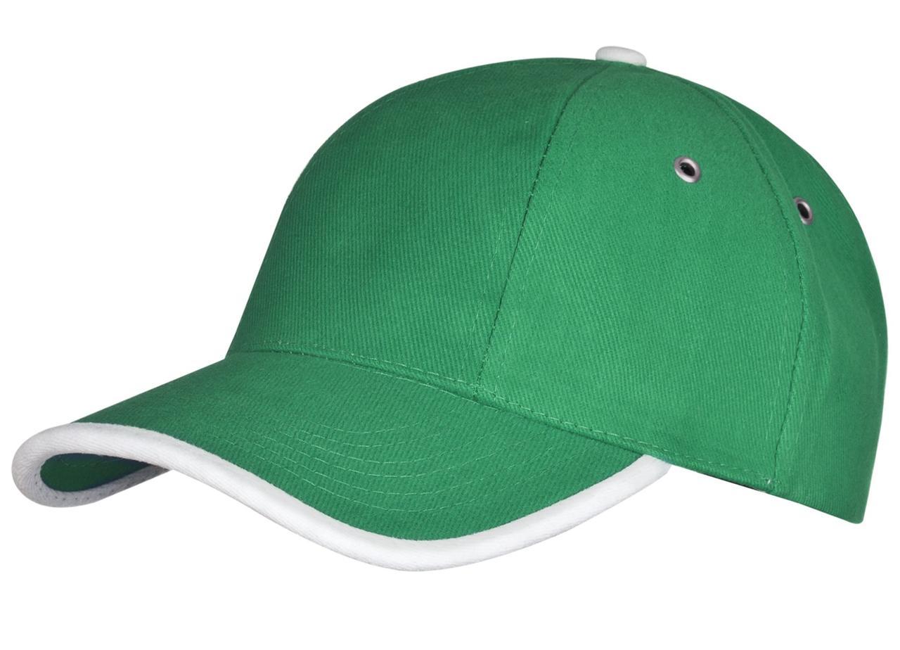 Бейсболка Unit Trendy, зеленая с белым (артикул 1849.90)
