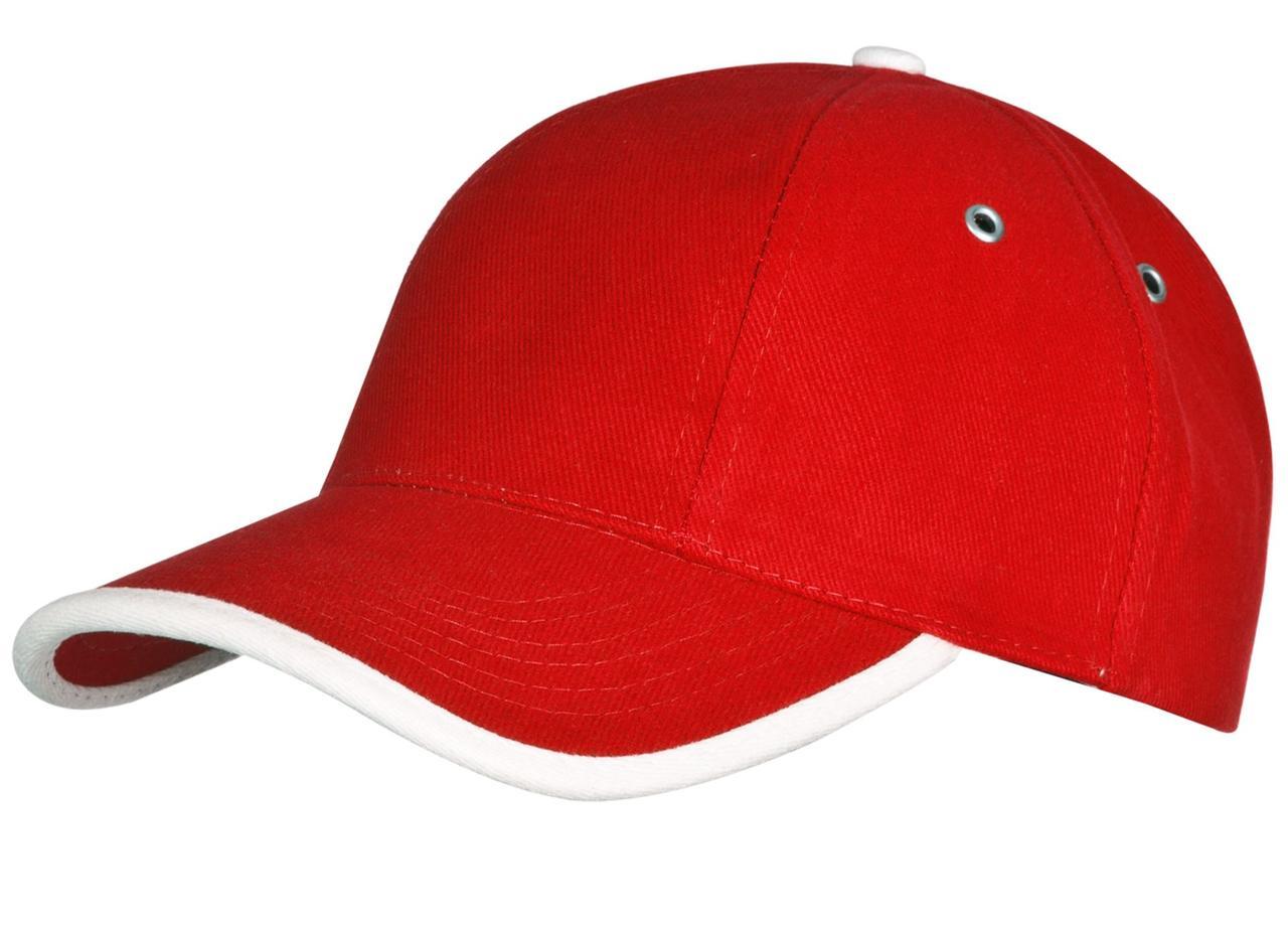 Бейсболка Unit Trendy, красная с белым (артикул 1849.50)