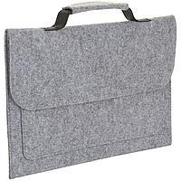Сумка для ноутбука Brixton, серый меланж (артикул 01679360TUN)