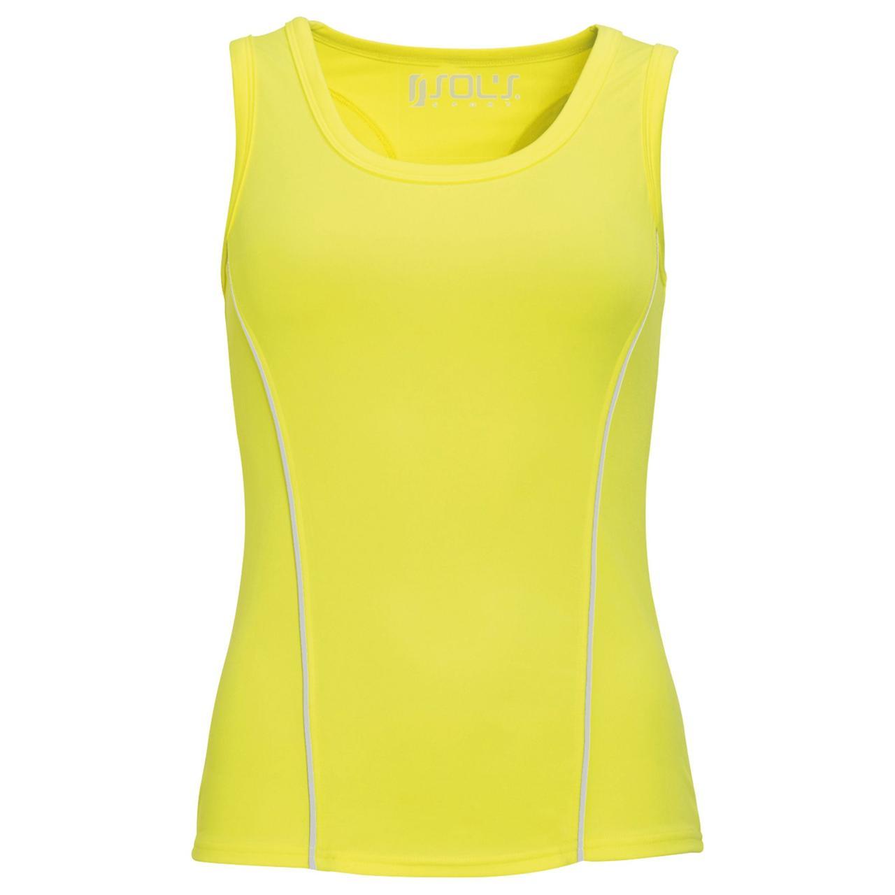 Спортивный топ Rio неоновый желтый (артикул 01418306)