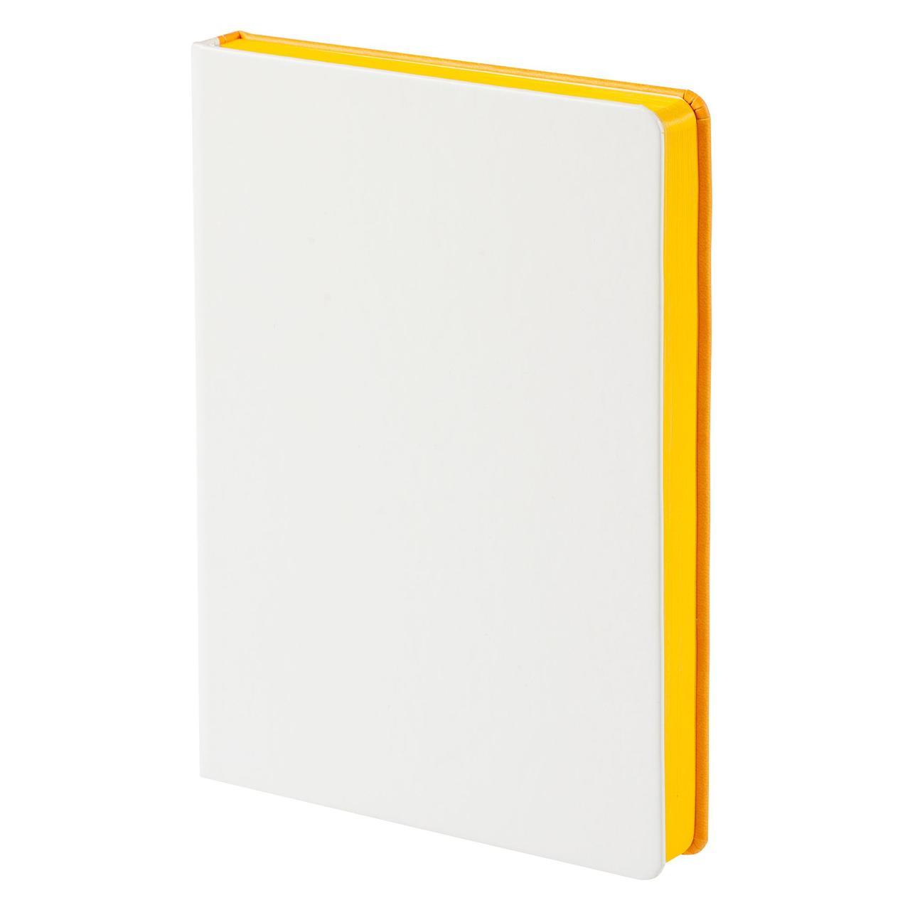 Ежедневник Butterfly, недатированный, белый с желтым (артикул 2804.02)
