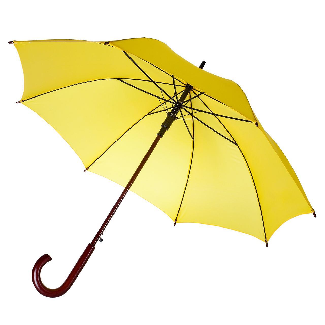 Зонт-трость Unit Standard, желтый (артикул 393.80)