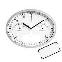 Часы настенные INSERT3 с термометром и гигрометром, белые (артикул 6186.60)