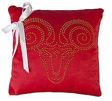 Подушка «Знак зодиака Овен», красная (артикул 6602.50)