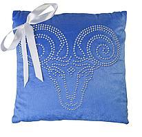 Подушка «Знак зодиака Овен», синяя (артикул 6602.40)