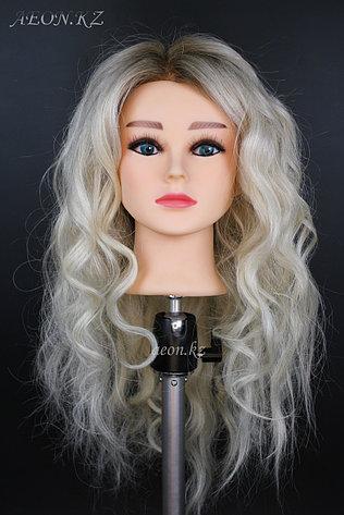 Голова-манекен окрашенный волос натуральный (95%) - 60 см