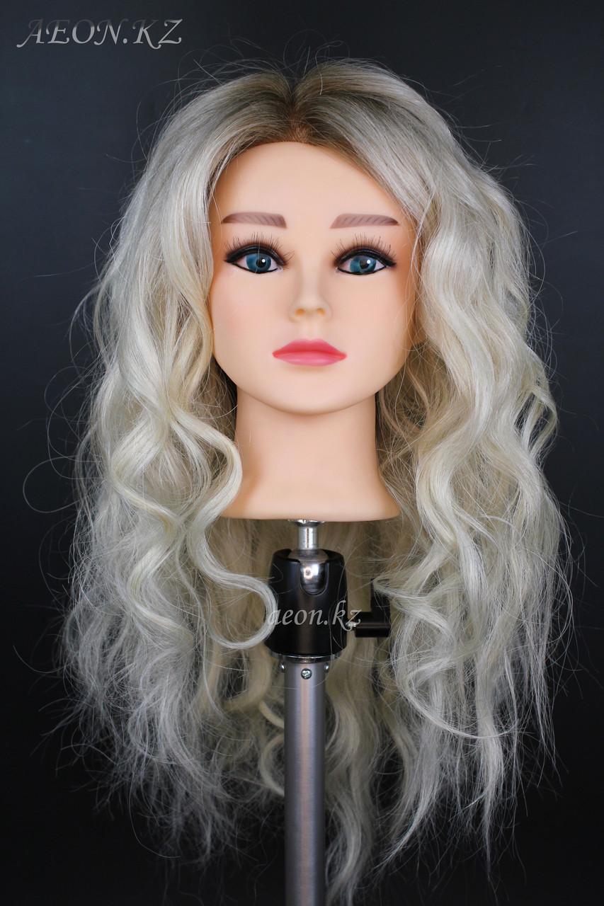 Голова-манекен окрашенный волос натуральный (95%) - 60 см - фото 1
