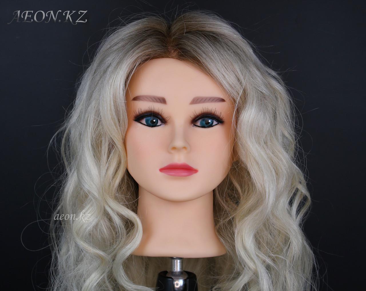 Голова-манекен окрашенный волос натуральный (95%) - 60 см - фото 5