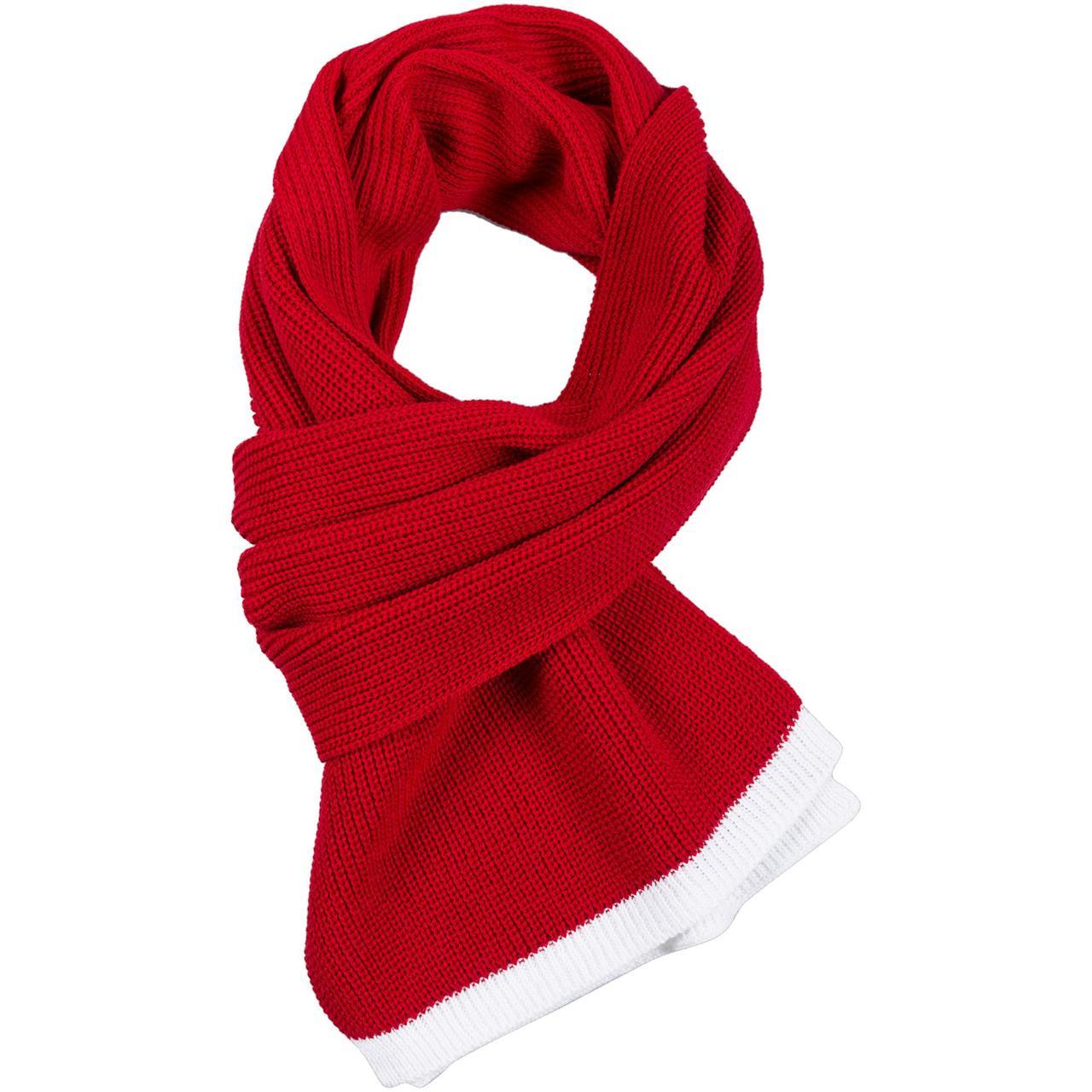 Шарф Amuse, красный с белым (артикул 7627.50)