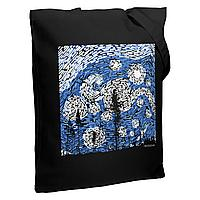 Холщовая сумка «Ван Найт», со светящимся принтом, черная (артикул 7860.31)