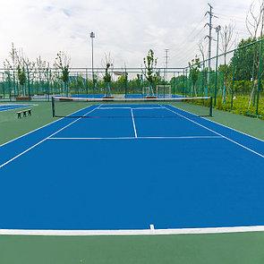 Резиновое покрытие теннисного корта