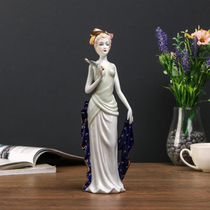 """Сувенир керамика """"Марго с веером"""" 29х6,5х9 см"""
