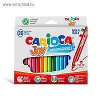 Фломастеры 36 цветов Carioca Joy 2.6 мм, в картонной коробке