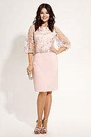 Женское летнее кружевное розовое нарядное платье Панда 484380p розовый 46р.