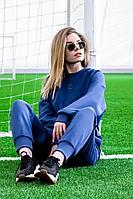 Женский осенний трикотажный голубой спортивный спортивный костюм GO F3007/20-01.170-176 42р.