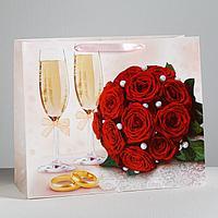 Пакет ламинированный «Счастливы вместе!», XL 49 × 40 × 19 см