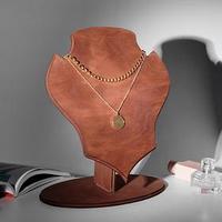 Подставка для украшениё 'Бюст' 26*31*16, толщина 4мм, цвет коричневый