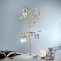 Подставка для украшений 'Сердце' h33, основа 10см, цвет золото