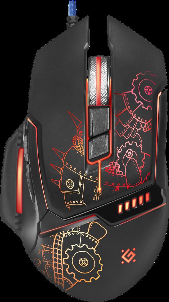 Проводная игровая мышь Defender Kill'em All GM-480L черный