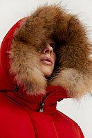 Полупальто женское Finn Flare, цвет темно-красный, размер 3XL