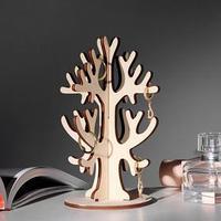 Подставка для украшений 'Дерево' 15*5, 3 крючка, толщина 4мм, цвет бежевый