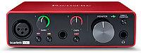 FOCUSRITE Scarlett Solo 3rd Gen внешний интерфейс USB для записи и воспроизведения звука