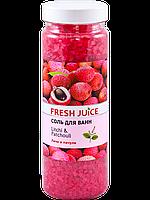 Fresh Juice Соль для ванн Litchi & Patchouli 700г