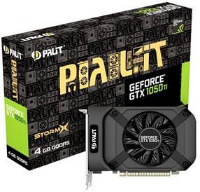 Видеокарта Palit STORMX GTX 1050 Ti, 4Gb/128bit, GDDR5, 1290/1392MHz
