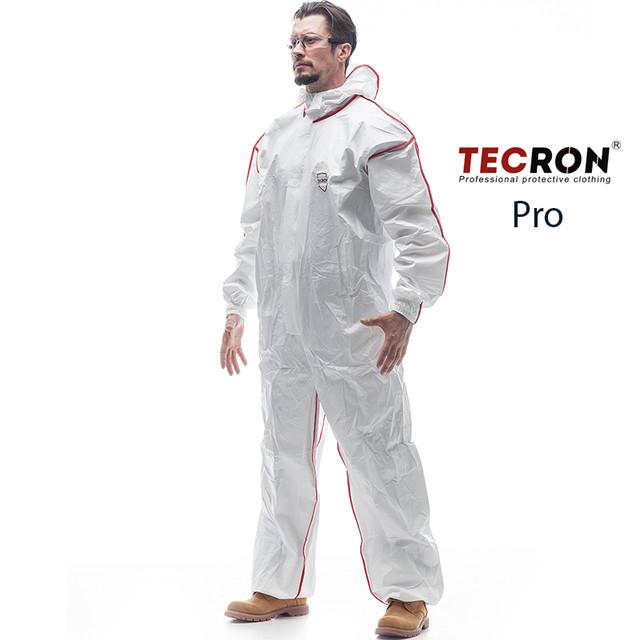 Одноразовые защитные комбинезоны TECRON™ Pro - вид спереди
