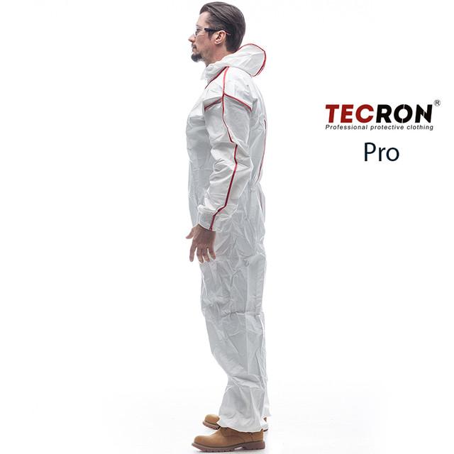 Одноразовые защитные комбинезоны TECRON™ Pro - вид сбоку