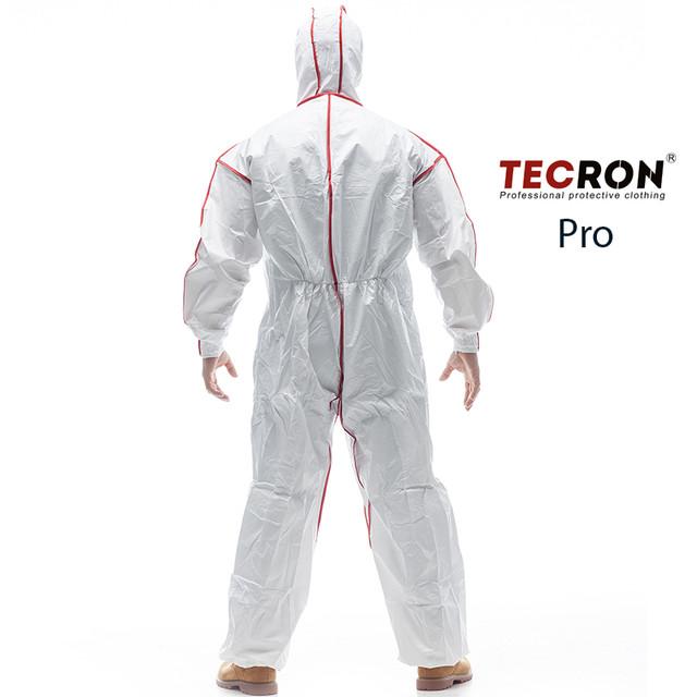 Одноразовые защитные комбинезоны TECRON™ Pro - вид сзади
