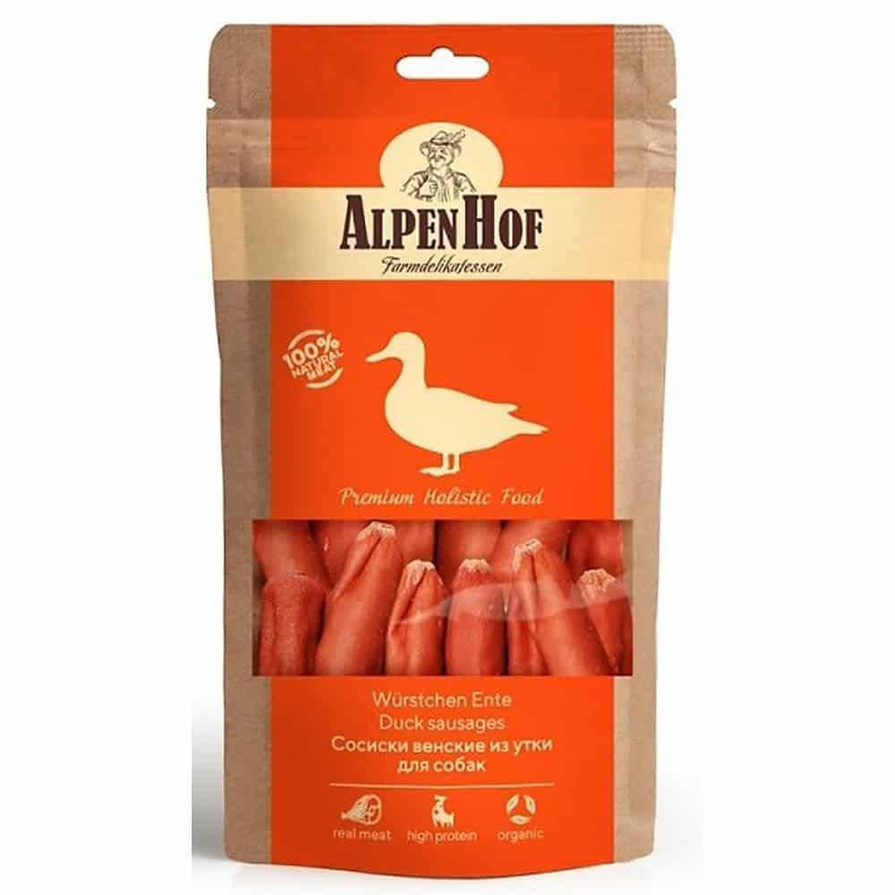 AlpenHof Сосиски венские из утки для собак