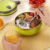 Ланч бокс для еды контейнер пищевой 1 секция 0,7 л зеленый