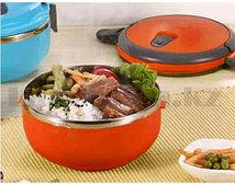 Ланч бокс для еды контейнер пищевой 1 секция 0,7 л оранжевый