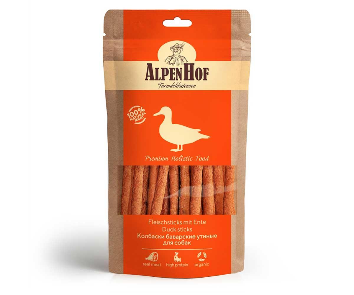 AlpenHof Колбаски баварские утиные для собак