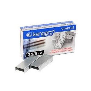 Скобы для степлера №24/6, 1-30л, 1000шт, оцинкованные Kangaro