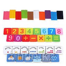 Набор счетных палочек в комплекте с магнитными цифрами и маркером, в железной банке, фото 2
