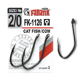 Крючок CAT FISH-COM FK-1126 № 2/0 (46mm)2шт