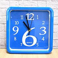 Часы настенные квадратные 21х21 см Quartz М5188А синие