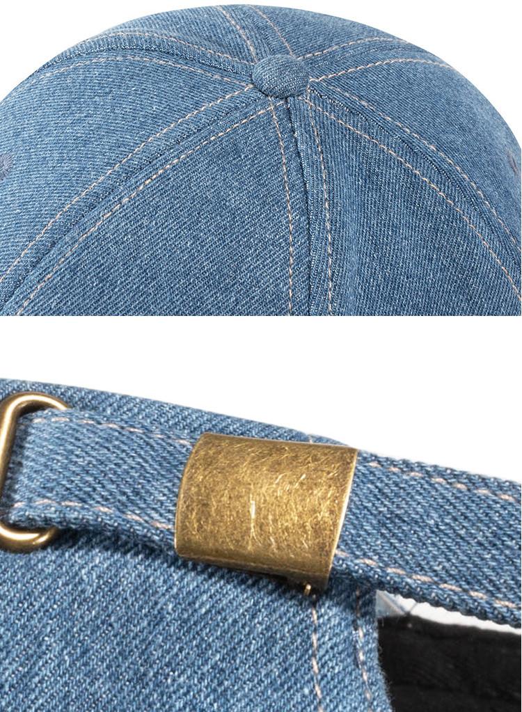 Бейсболка джинсовая, с длинным козырьком-сэндвич - фото 8