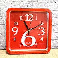 Часы настенные квадратные Quartz М5188А красные