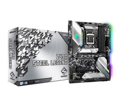 Материнская плата ASRock Z490 STEEL LEGEND LGA1200 4xDDR4 6xSATA RAID 2xUM.2 HDMI DP ATX