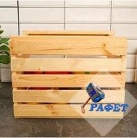 Ящик для овощей деревянный. Модель №12