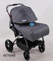 Детская коляска Барс 6016АВ темно/серый