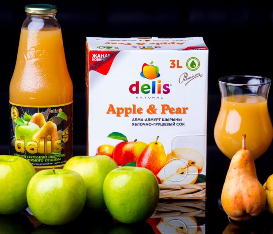 Яблочно -грушевый сок Delis 1л - фото 1