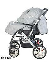 Детская коляска Барс 6016АВ светло/серый