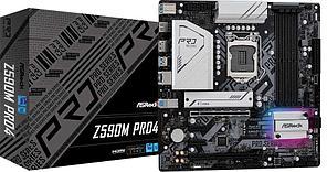 Материнская плата ASRock Z590M PRO4 LGA1200 4xDDR4 4xSATA RAID 2xM.2 HDMI DP mATX