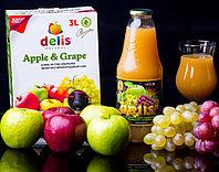 Яблочно-виноградный сок Delis 3л
