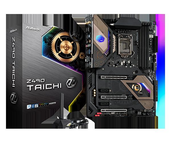 Материнская плата ASRock Z490 TAICHI LGA1200 4xDDR4 8xSATA RAID 3xUM.2 HDMI DP ATX