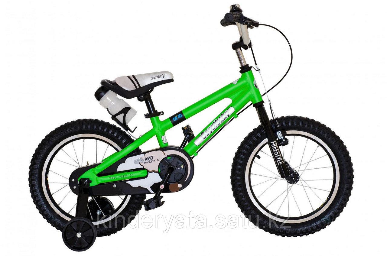 """ROYAL BABY Велосипед двухколесный FREESTYLE 16"""" Зеленый"""